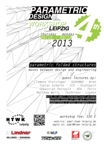 4th Parametric DEsign Workshop Leipzig