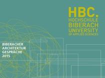 Biberarcher Architekturgespräche 2015